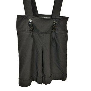 Zara Shorts - Zara Basic Black Cuffed Overall Shorts XS